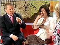 BBC Breakfast presenters Bill Turnbull and Susanna Reid eat nettle pudding