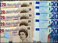 Pound and euro notes