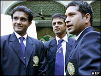 Saurav Ganguly, Rahul Dravid and Sachin Tendulkar