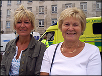Susan Moore (left) and Anne Cowan