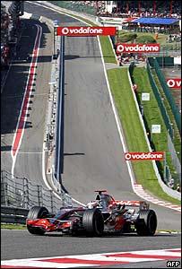 Fernando Alonso en el circuito de Spa Francorchamps