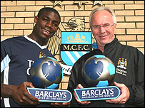 Micah Richards and Sven-Goran Eriksson