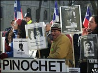 Protests as the courts decide Pinochet's fate