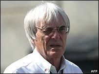 Bernie Ecclestone, el jefe de la Fórmula Uno.