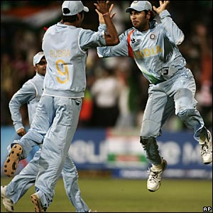 India players celebrate