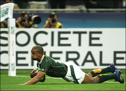 JP Pietersen scores South Africa's second try