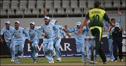 India celebrate victory
