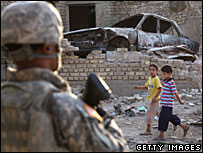 US soldier in Baghdad, 14/09