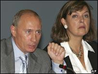 President Vladimir Putin and Bridget Kendall
