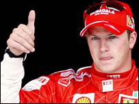 Ferrari's Kimi Raikkonen.