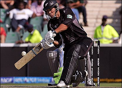 Ross Taylor plays a sweep shot