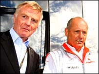 Max Mosley (left) and Ron Dennis