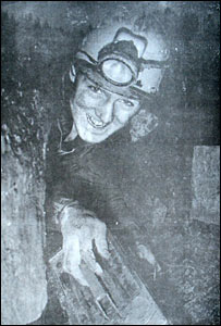 Caver (Pic: by Frank Honey, courtesy of South Wales Caving Club)