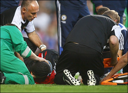 Christopher Samba receives treatment