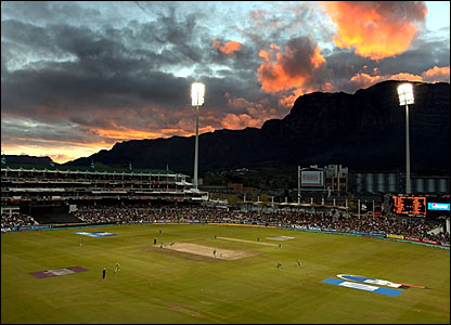 Bangladesh batting at the Newlands cricket ground