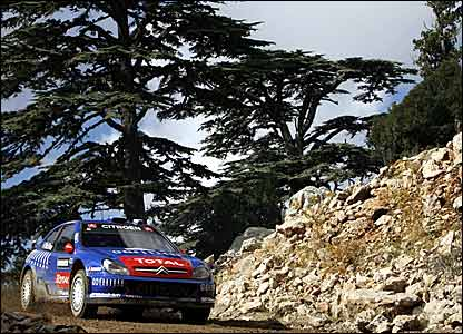 Colin McRae driving in his final rally in Turkey