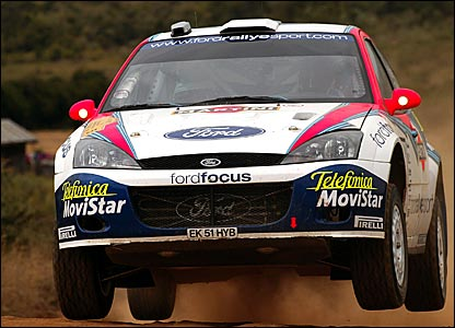 Colin McRae on his way to victory in Kenya