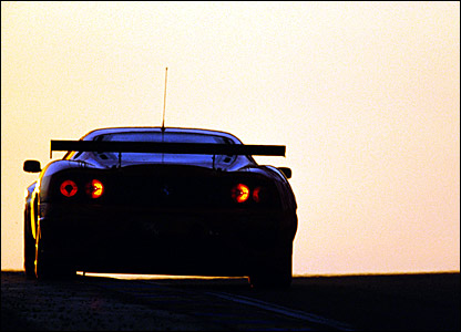 Colin McRae driving the Ferrari 550-GTS Maranello