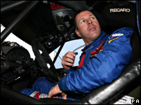 Colin McRae in rally car