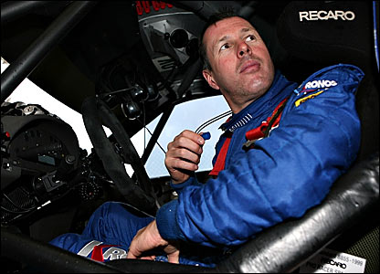 Colin McRae in his car at the 2006 Rally of Turkey