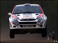Colin McRae in his Ford Focus  in 1999