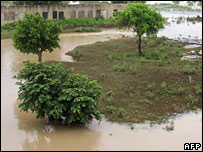 A Flooded Village in Northern Ghana