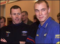 Colin McRae and British rival Richard Burns