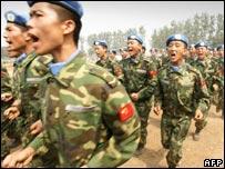 الجنود الصينيون الذين سيتم نشرهم في الاقليم