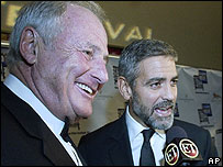 Jerry Weintraub and George Clooney