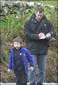 Colin McRae with his son Johnny