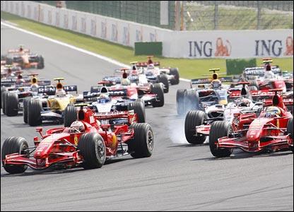 Kimi Raikkonen leads