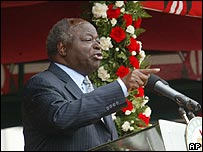 President of Kenya, Mwai Kibaki