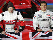 Colin McRae and David Coulthard were due to team up again in the Race of Champions