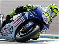 Valentino Rossi at Estoril.