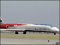 A MD-82 airplane