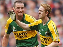 Kieran Donaghy and Colm Cooper of Kerry