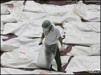 جثث ضحايا الطائرة المنكوبة