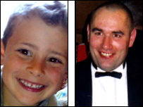 Ben Porcelli, 6, and Graeme Duncan, 37