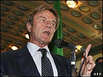 French Foreign Minister Bernard Kouchner. File photo