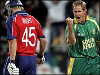 Luke Wright and Shaun Pollock