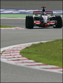 Fernando Alonso in action at the Belgian Grand Prix