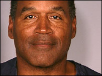 OJ Simpson's official police mug shot