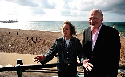 Sir Menzies Campbell and wife Elspeth pictured in Brighton