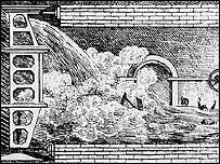 Flood during tunnel building