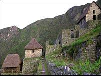 Ruinas en  Machu Picchu