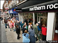 Queue at Northern Rock