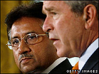 Presidents Musharraf and Bush