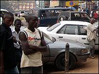 Street scene in Kampala