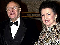 Mstislav Rostropovich and his wife, Galina Vishnevskaya