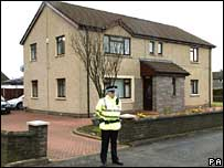 Police at Alva house